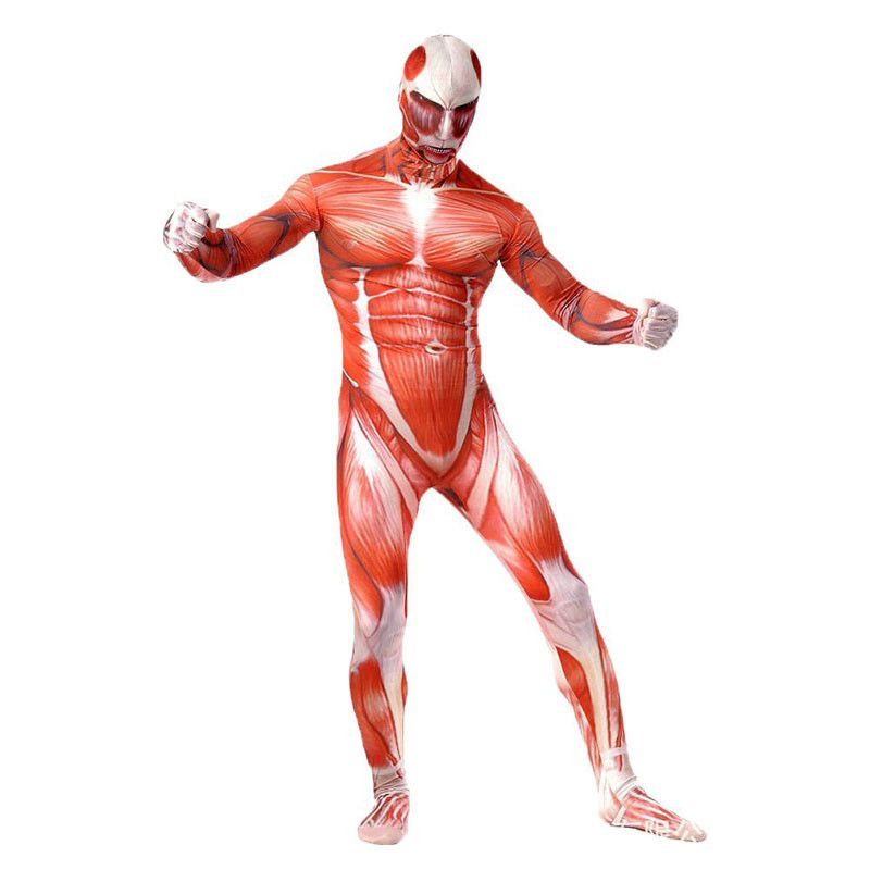 AOT Zentai Tight Suit Muscle Full Bodysuit Cosplay //Price: $42.99 & FREE  Shipping