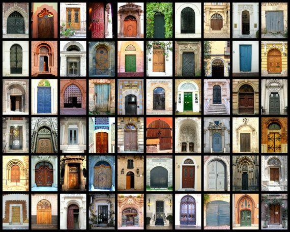 Betere Deur fotografie Collage foto afdrukken, deur fotografie, deuren XU-18