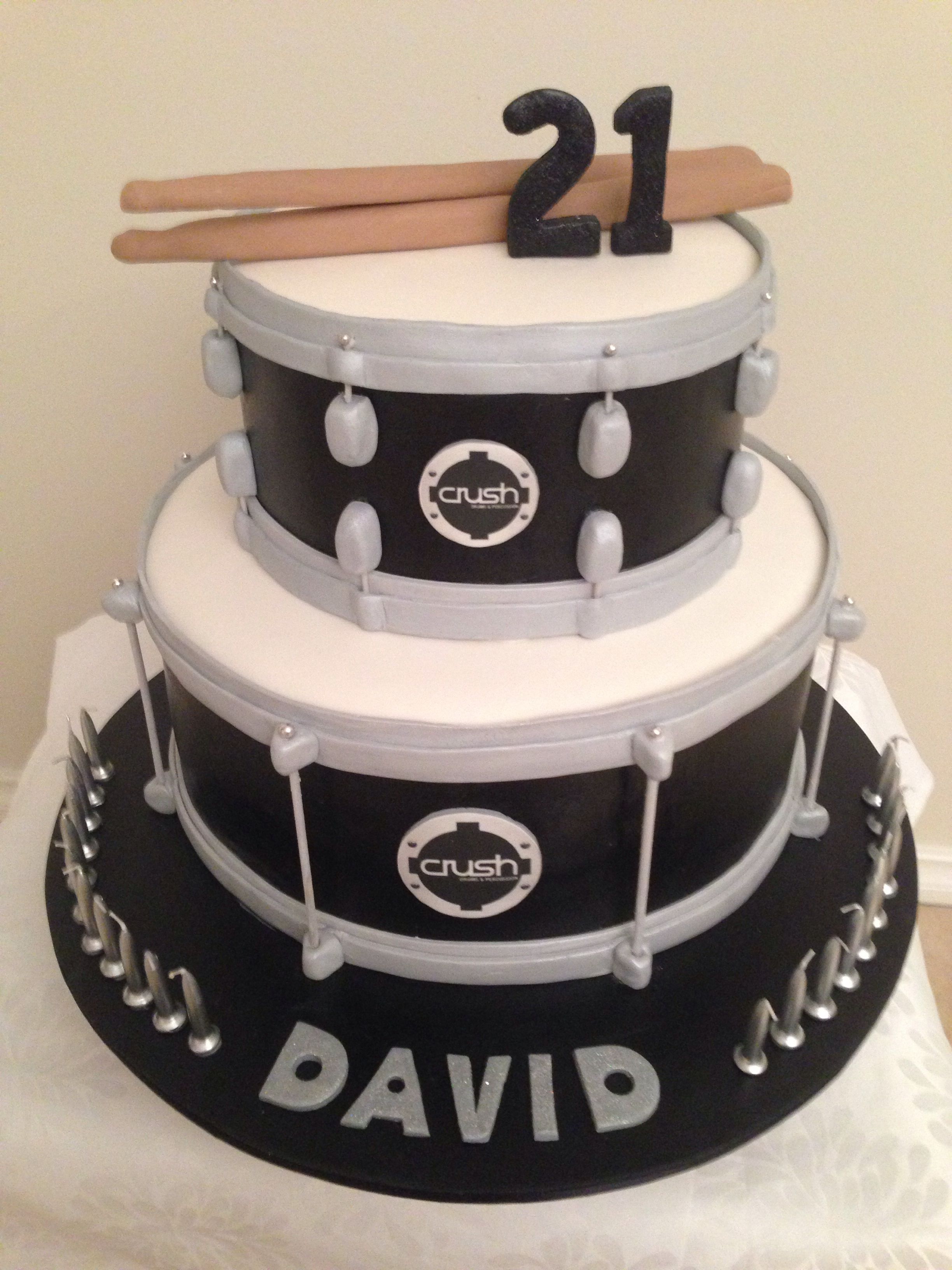 Excellent Snare Drum Cake Crush Drums By Jojo B Drum Birthday Cakes Personalised Birthday Cards Veneteletsinfo