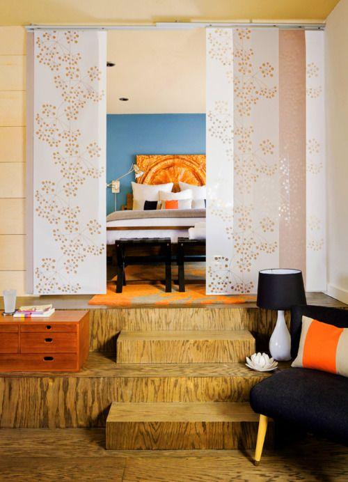 sliding panels idea room divider for the home pinterest room bedroom and home. Black Bedroom Furniture Sets. Home Design Ideas