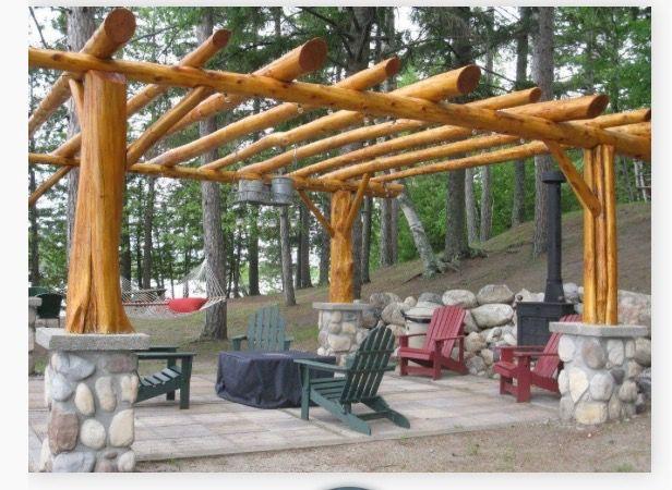 Log Pergola Pergola Outdoor Improvements Pergola Patio