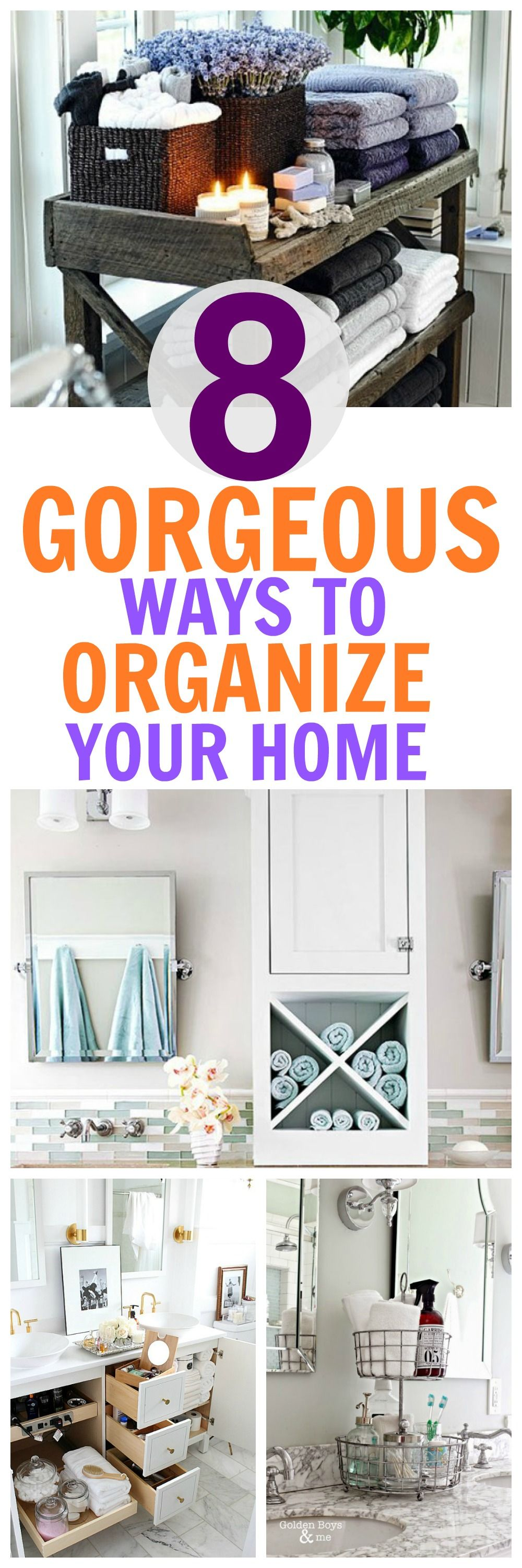 8 Easy Beautiful Ways To Organize Your Bathroom | Organizing, DIY ...