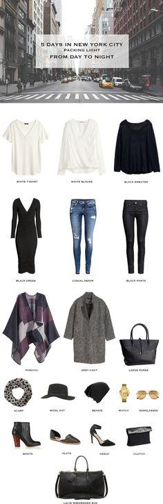 5 Days In New York City Packing List Met Afbeeldingen Vakantie Kleding Outfits Kleding