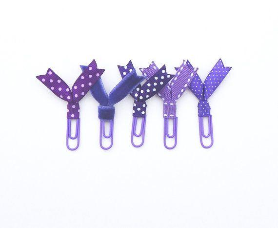Planificador de la púrpura clips clips accesorios de por JessCowley
