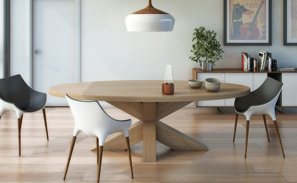 ZWAARTAFELEN I An oval table is the most ideal table for a good