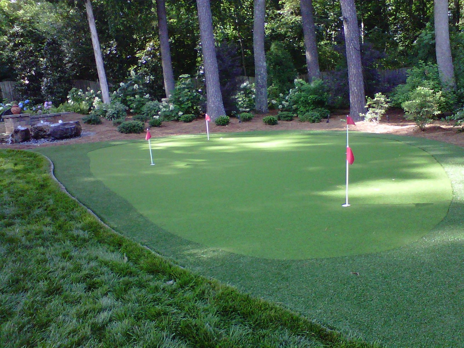 Backyard Golf   Backyard putting green, Home putting green ...
