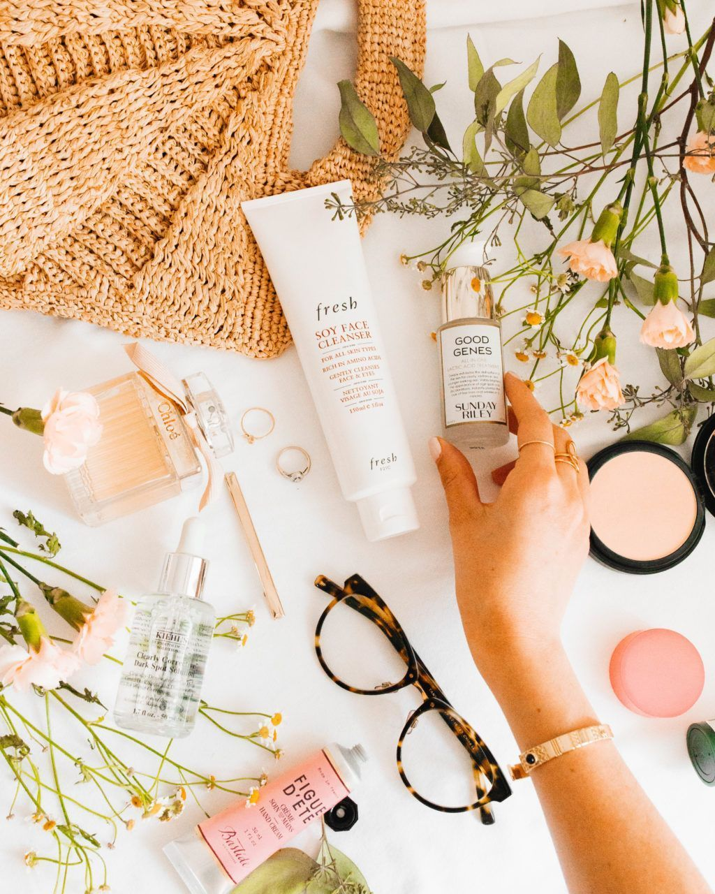 My updated skincare routine clean products for acne prone