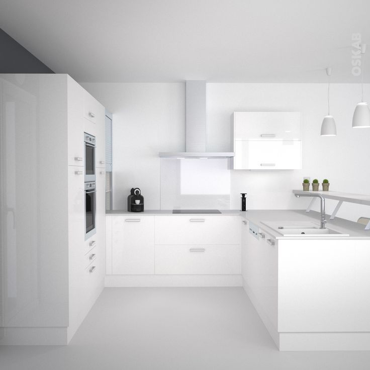 Attrayant cuisine ouverte avec comptoir paris apartments cuisine toute blanche cuisine - Cuisine ouverte avec comptoir ...