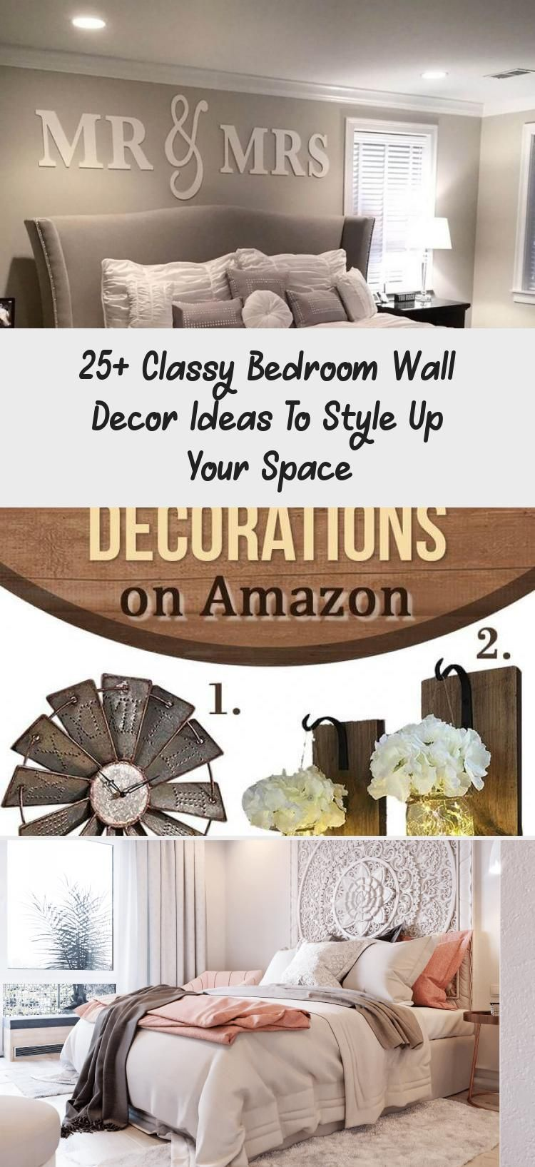 25 Classy Bedroom Wall Decor Ideas To Style Up Your Space