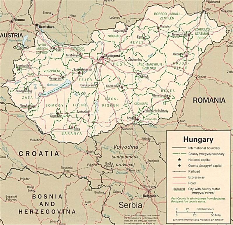Cartina Slovenia Pdf.Mappa Dell Ungheria Ungheria Mappa Slovenia