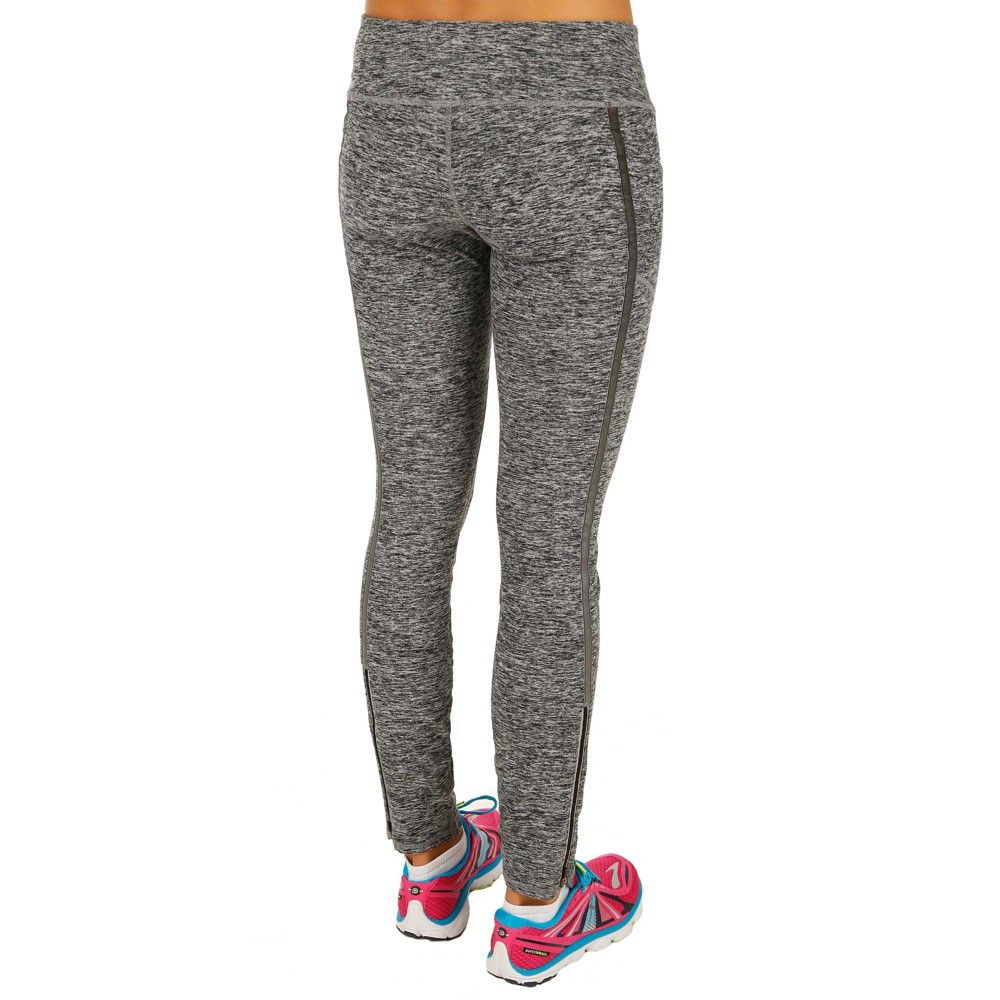 Brooks Utopia Thermal Tight II-Reflective detail to keep you safe and the heathered look keeps you stylish!