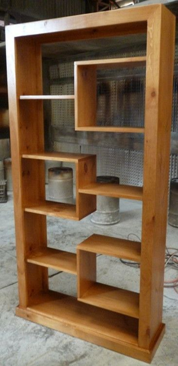 Pine Timber Wooden Room Divider Bookcase Display Unit