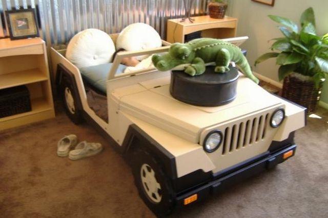 cama jeep para nios