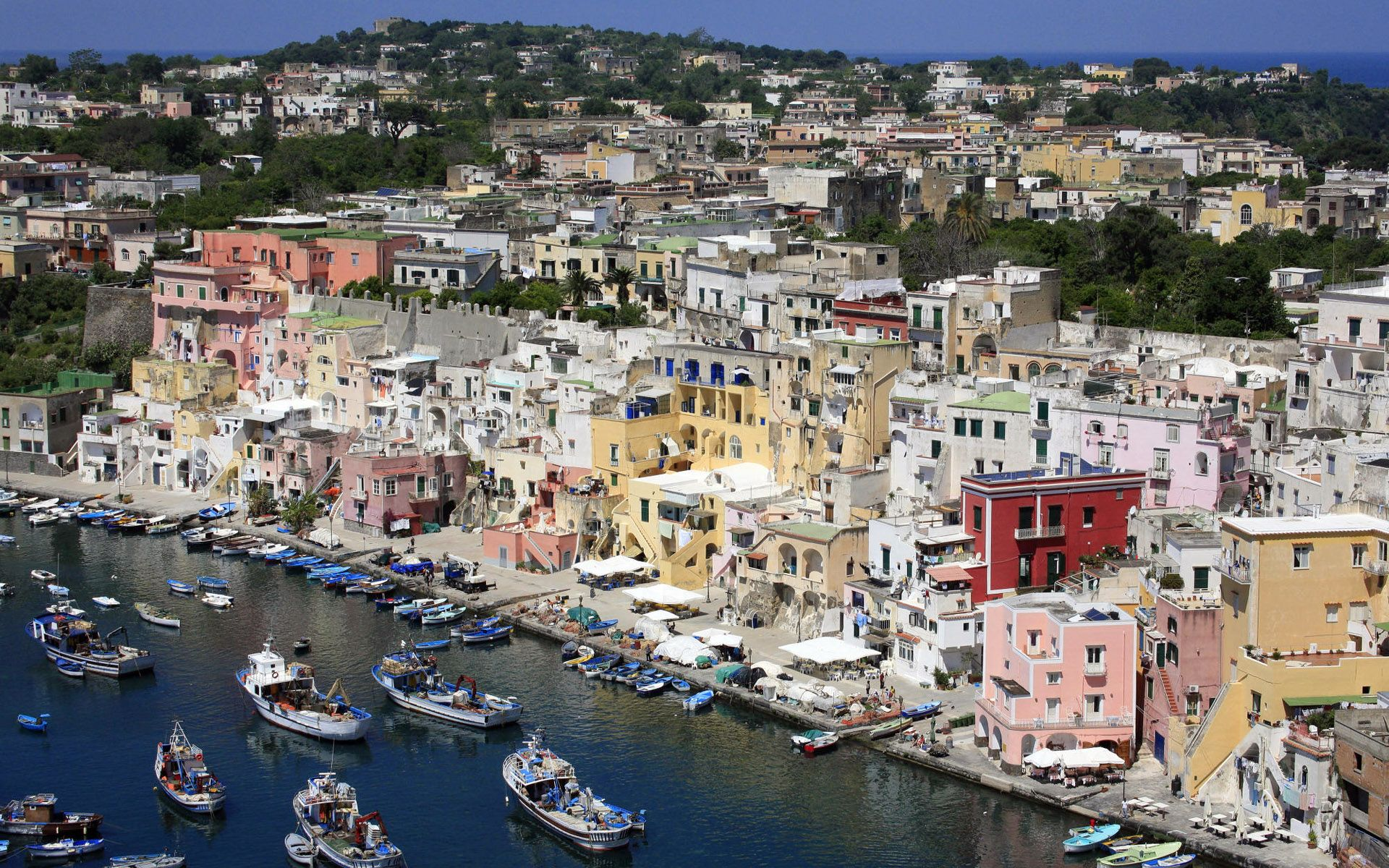 Procida Is One Of The Flegrean Islands Off Coast Naples In Southern Italy Island Between Cape Miseno And Ischia