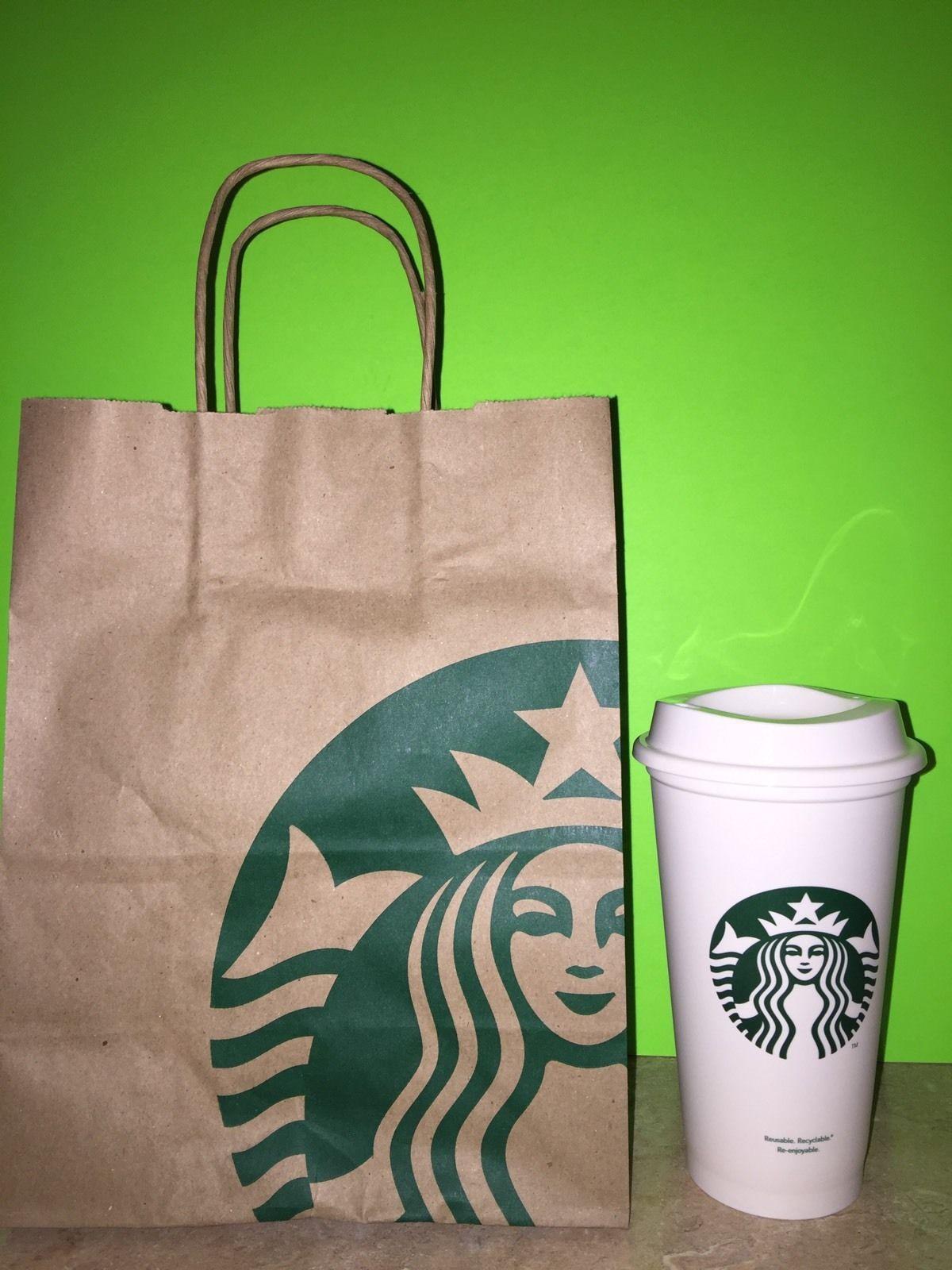 New Starbucks Reusable Coffee Tea 16oz Cup with Lid