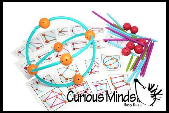 Construction de formes géométriques jeu par CuriousMindsBusyBags