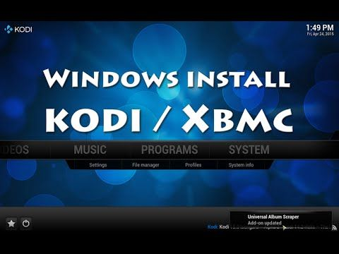 How to install XBMC / KODI on Windows 10 8.1 8 7 PC / Laptop