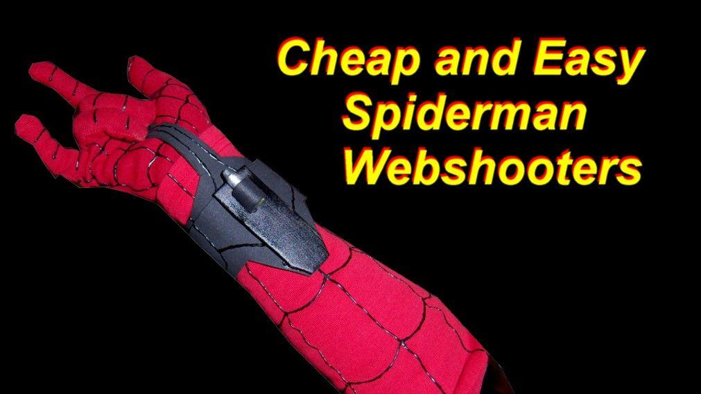 Spiderman Costume Tutorial Diy Web Shooters And Gloves Spiderman Costume Spiderman Homecoming Costume Kids Spiderman Costume