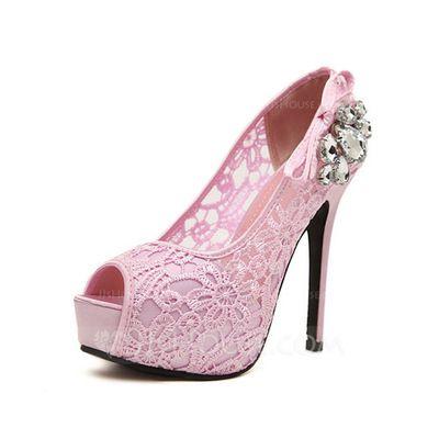 Sandaalit - $36.99 - Pitsi Piikkikorko Sandaalit Foorumi Peep toe jossa Tekojalokivi kengät (087047820) http://jjshouse.com/fi/Pitsi-Piikkikorko-Sandaalit-Foorumi-Peep-Toe-Jossa-Tekojalokivi-Kengat-087047820-g47820