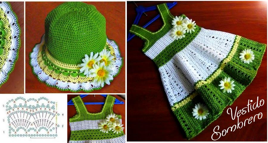 Patrones de Vestido y Sombrero para Niña | para las niñas ...