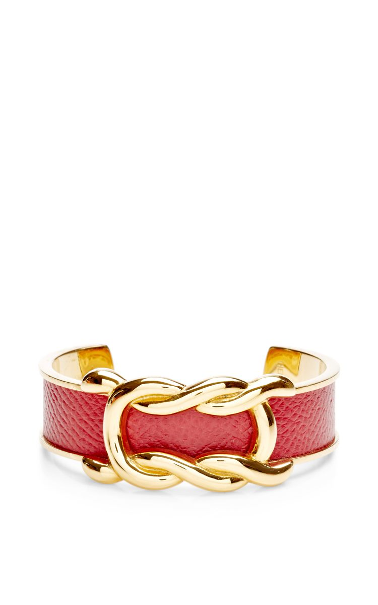 Hermes red and gold epsom twist cuff by what goes around comes