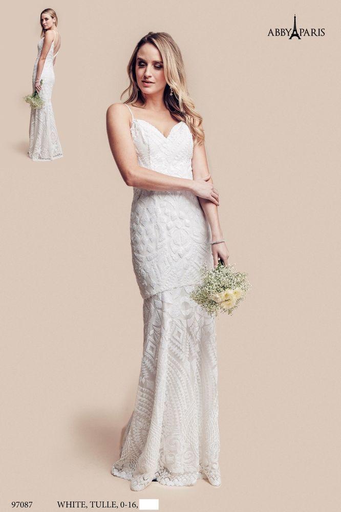 Destination Wedding Gown Size 6 Informal Bridal Dress Sequins ...