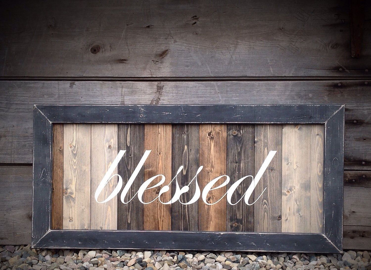 Blessed Sign Large Wood Blessed Sign Distressed Blessed Sign Farmhouse Blessed Sign Blessed Sign For The Rustic Wood Signs Farmhouse Wall Decor Wood Signs