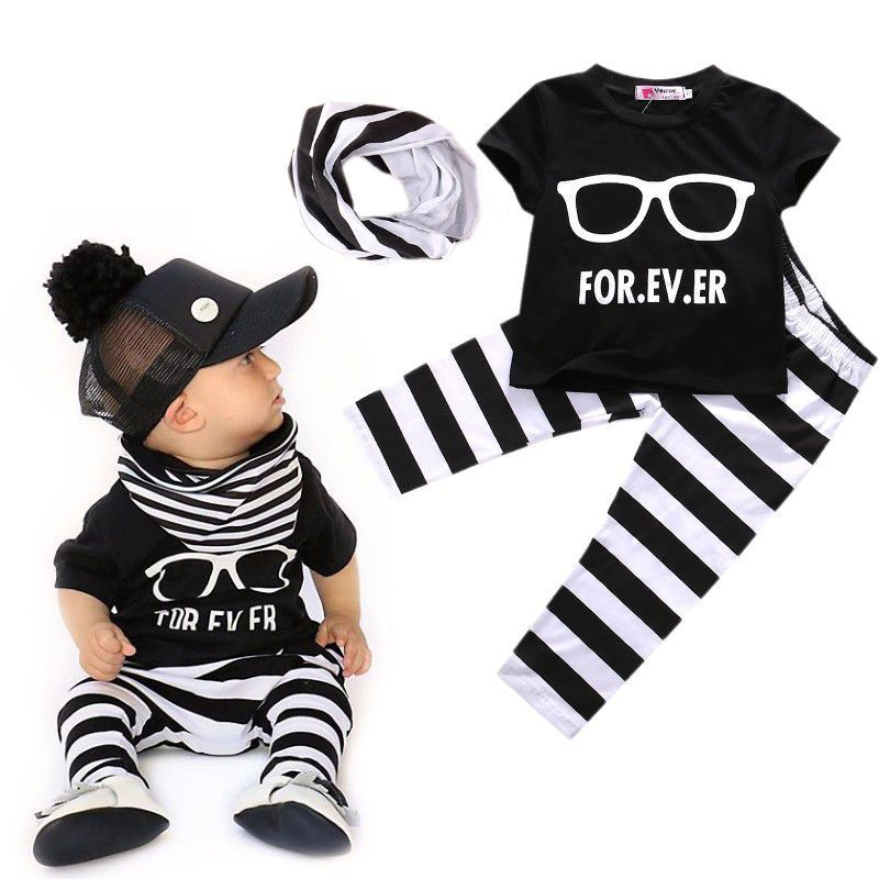 c8c47f380b4d1 Details about 3pcs Newborn Baby Boys Girls Deer Top T shirt+Pants ...