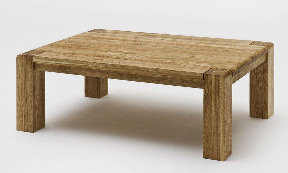 Couchtisch Holz Wildeiche Massiv Natur Geölt Oder Bianco, 115 X 75 Cm,  Modell Salvador