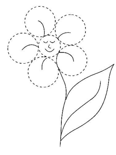 figuras geometricas para colorear flor circulo | jaro | Pinterest