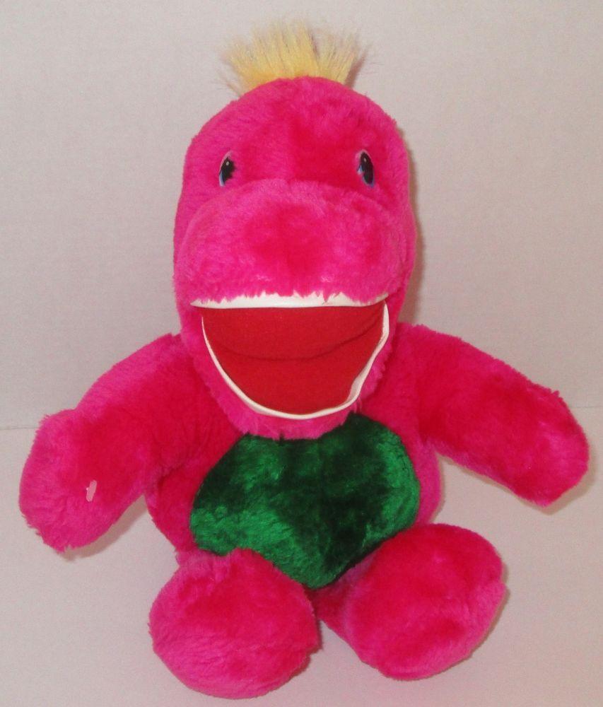 Vintage Pink Dinosaur Plush Stuffed Animal 15 90 S Happiness Well
