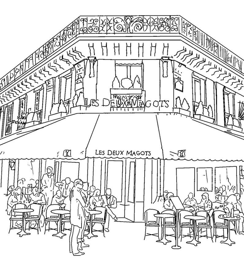 Restaurant Coloring Pages Coloring Pages Adult Coloring Pages