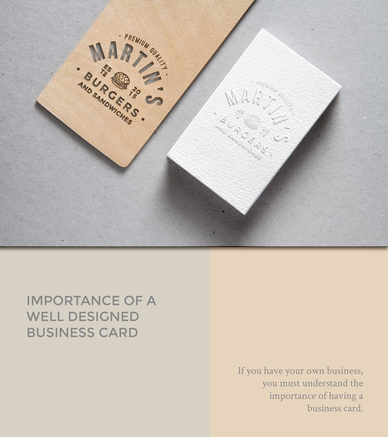 Importance of a well designed business card If you have your own ...