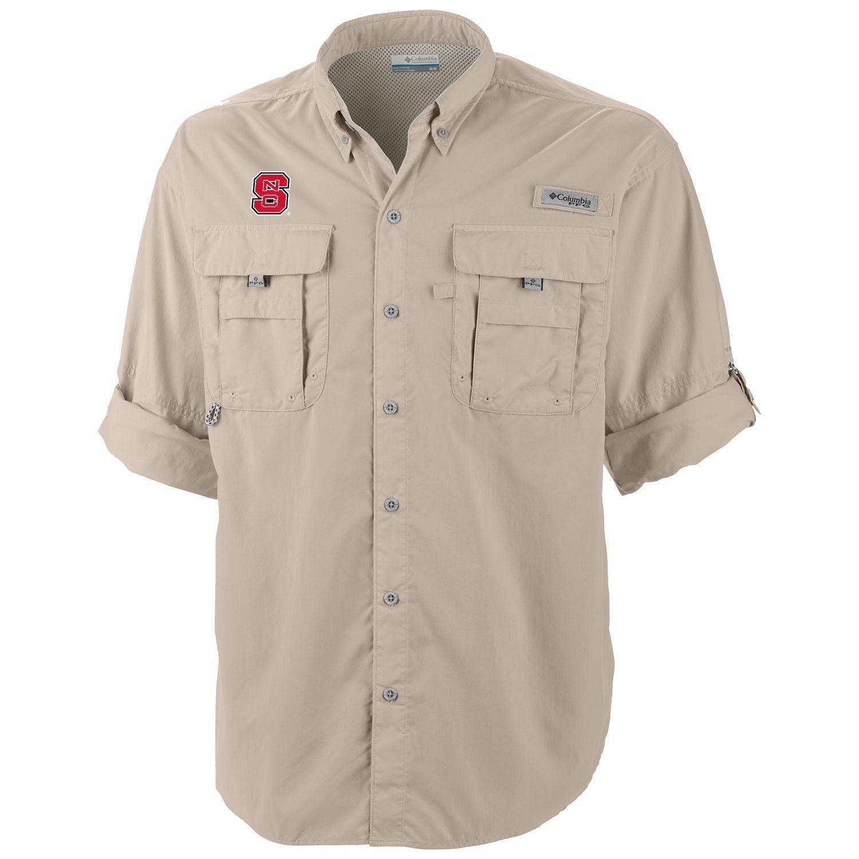 9ba98866a NC State Wolfpack Columbia Fossil Bahama Long Sleeve Shirt ...