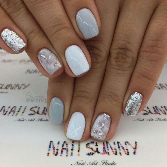 60 Must Try Nail Designs For Short Nails 2019 With Images Stylish Nails Short Acrylic Nails Short Nail Designs