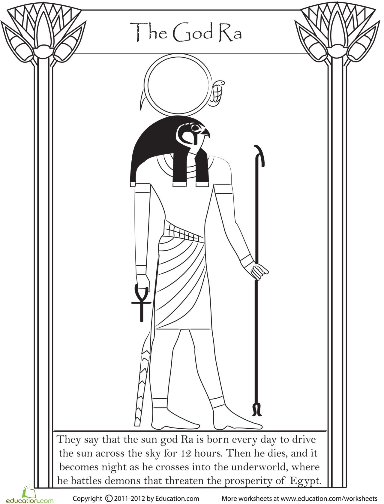 Egyptian Coloring Pages For Hours Of Fun And Gothfox