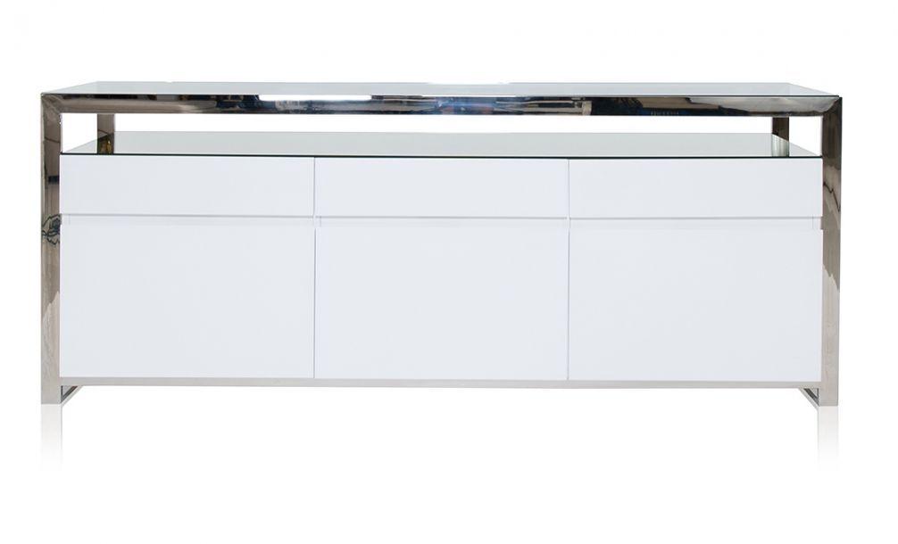 Best Strada Buffet White Modern Buffet Modani Furniture 400 x 300