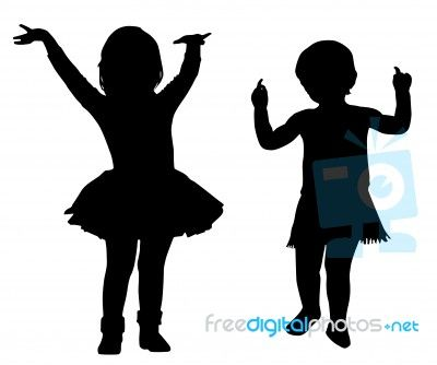 silhouette toddler girl - Google Search