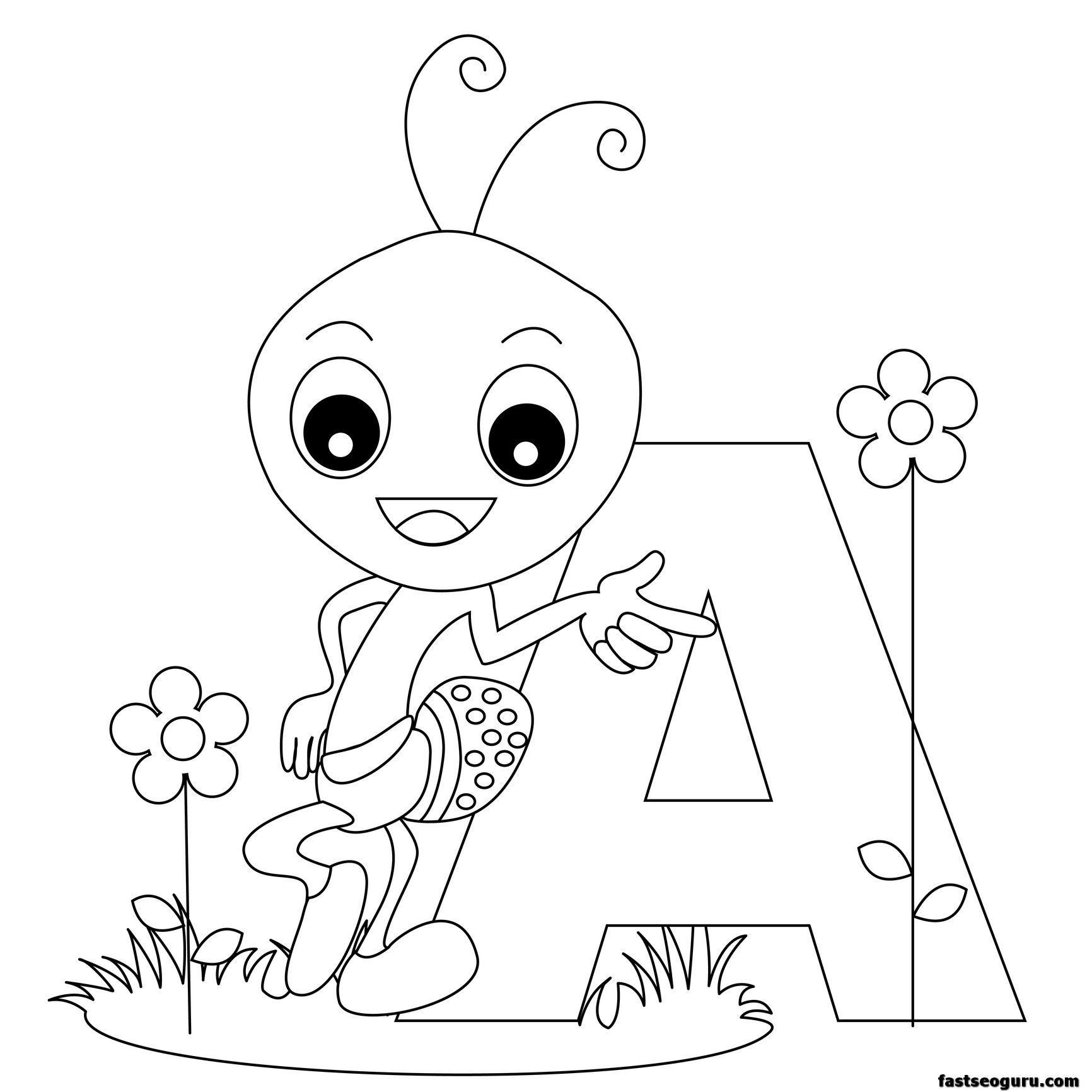 Animal Alphabet Worksheets Letter For Ant Printable