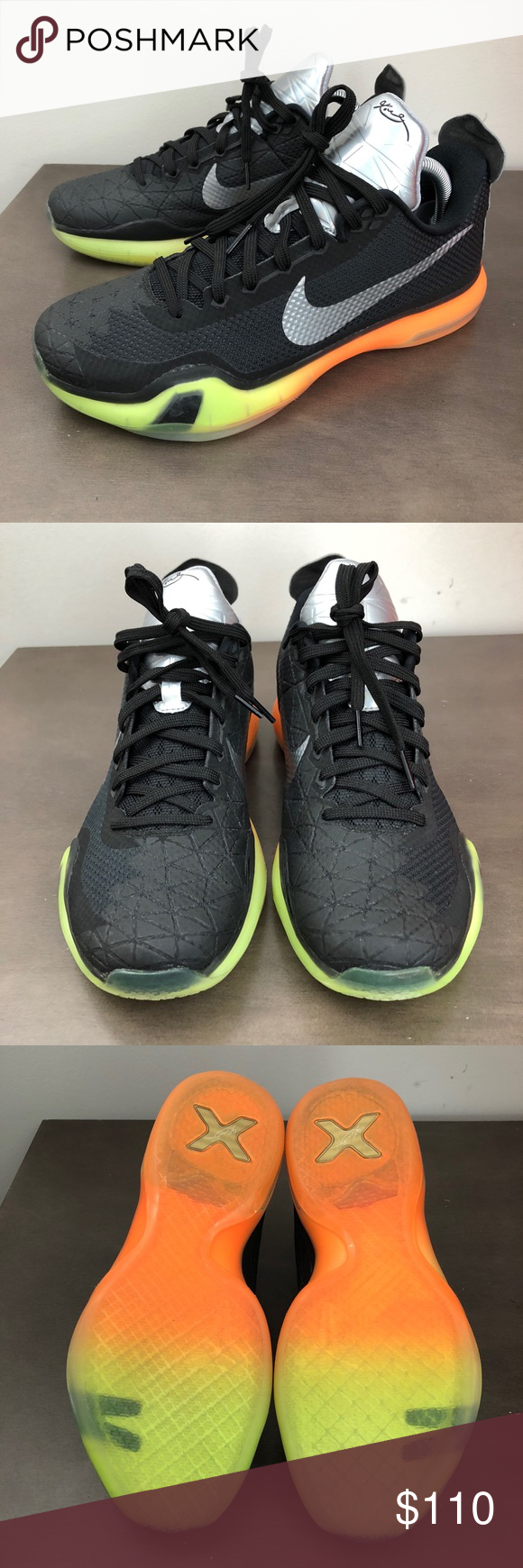 new concept 028f5 e7dcf Nike Kobe 10 X All Star AS 742546-097 Amazing condition like new!! Men s  size 8 medium Nike Kobe 10 X All Star AS 742546-097 Black Multi-Color Size  8 Men s ...