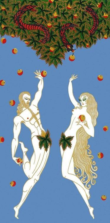 Adam & Eve by Erté (Romain de Tirtoff)