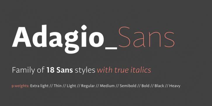 Adagio Sans font download