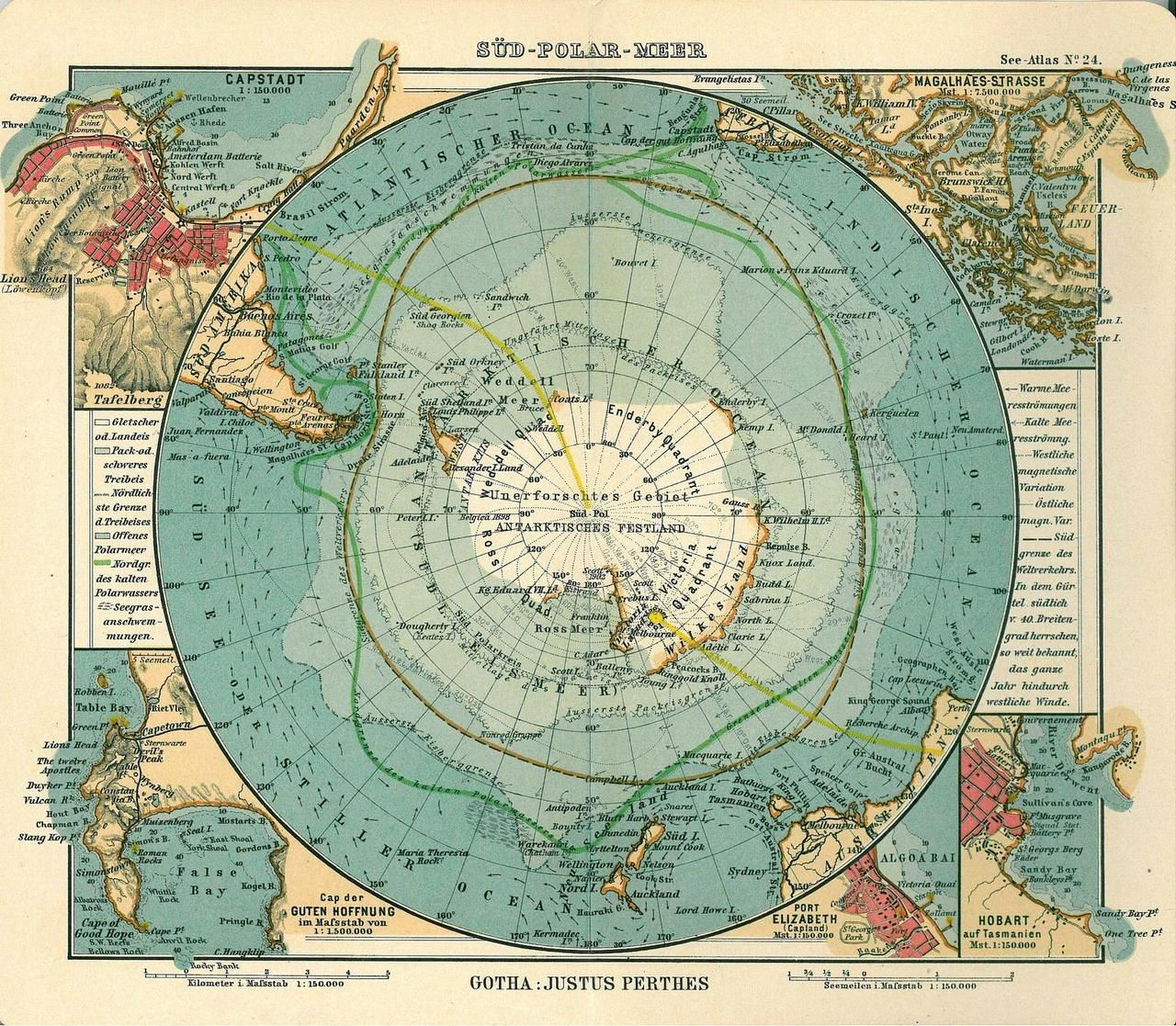 Map Of Antarctica 1906 Maps In 2019 Vintage Maps Old Maps Map