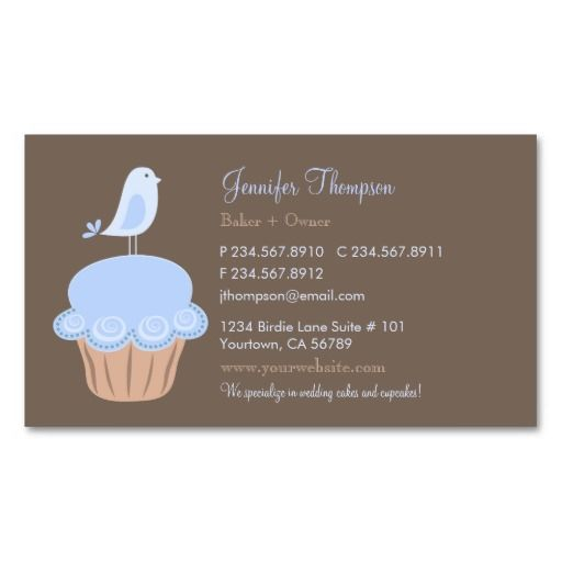 Bird and cupcake business card templates bakery business card bird and cupcake business card templates fbccfo Gallery