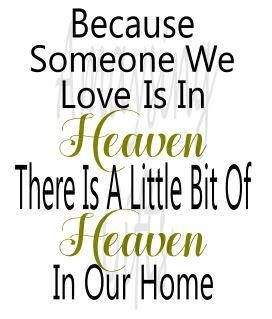 Download Svg - Because Someone We Love Is In Heaven - Heaven ...