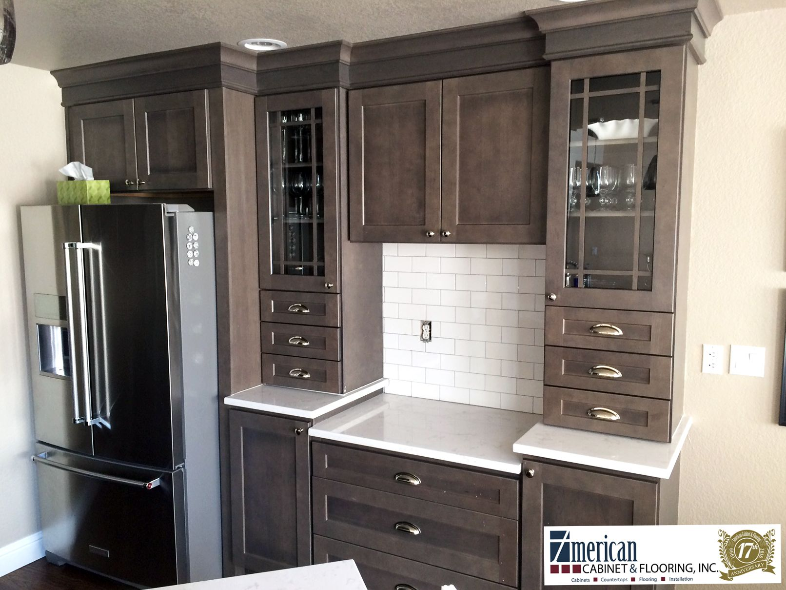 Newly Completed Project Banker S Kitchen Homecrest Dover Maple Door With An Anchor Sta Kitchen Cabinet Door Styles Brown Kitchen Cabinets Homecrest Cabinets