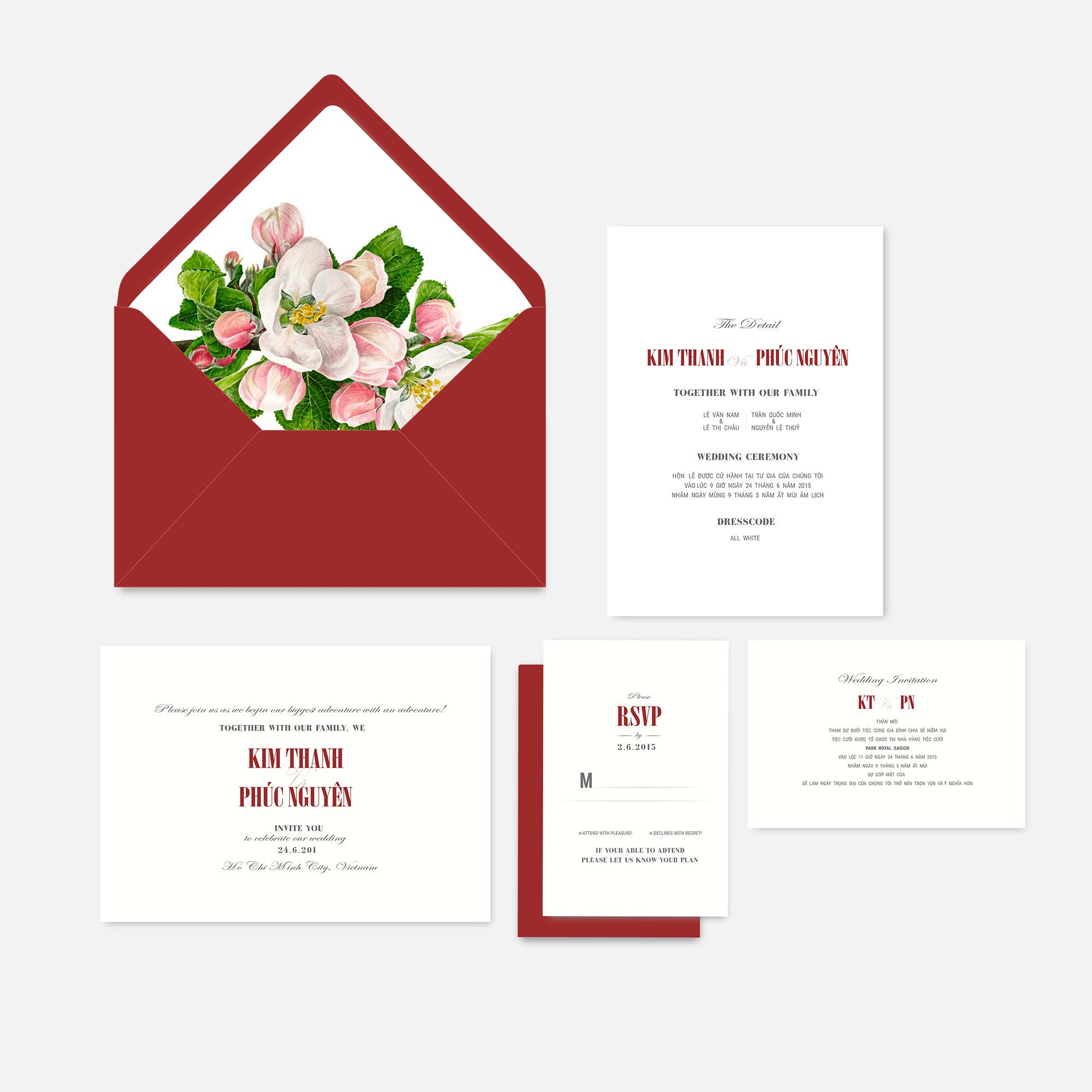 Apple Blossom Red | Wedding Invitations Card | Pinterest | Wedding ...