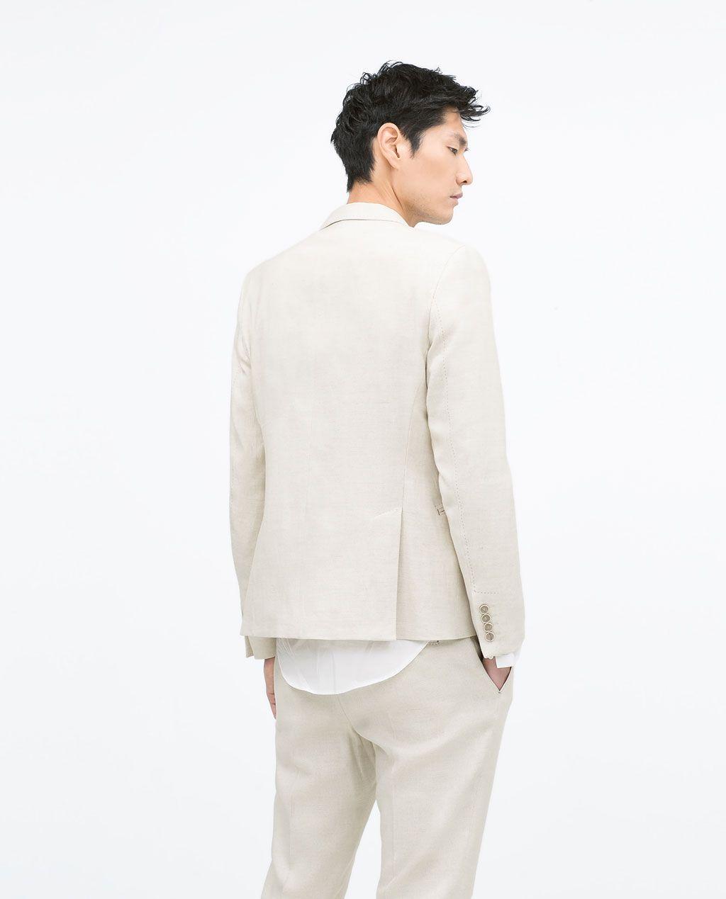 chaquetas lino zara hombre
