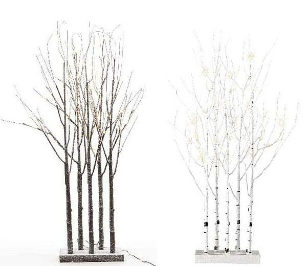 this lumineo birch twig tree grove has five branches beautifully lit up with warm white led