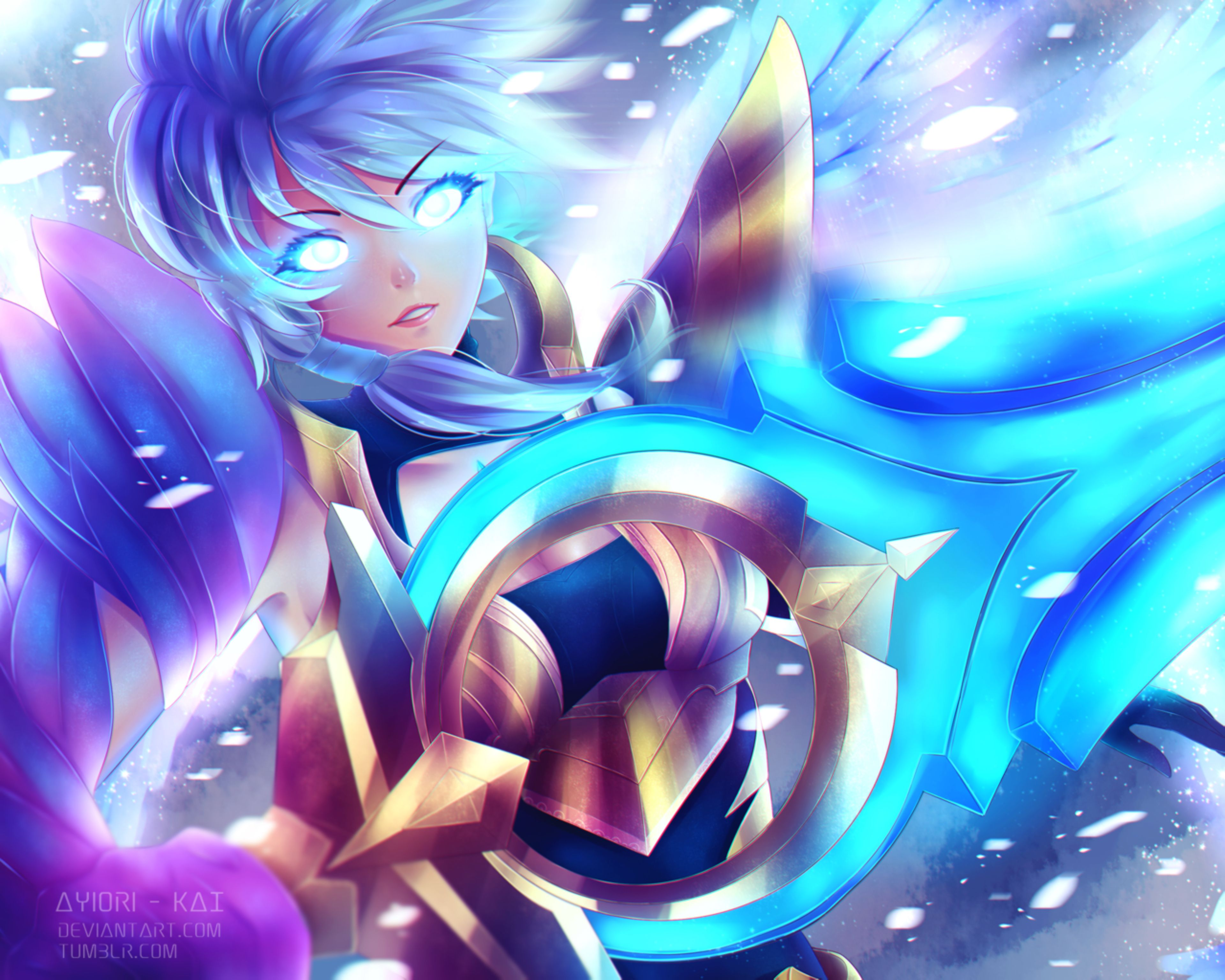 Dawnbringer Riven Fanart By Ayiori Kai On Deviantart Anime League Of Legends Characters Lol League Of Legends
